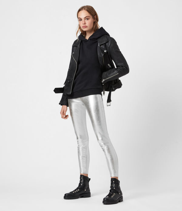 Cora Leather Foil Leggings