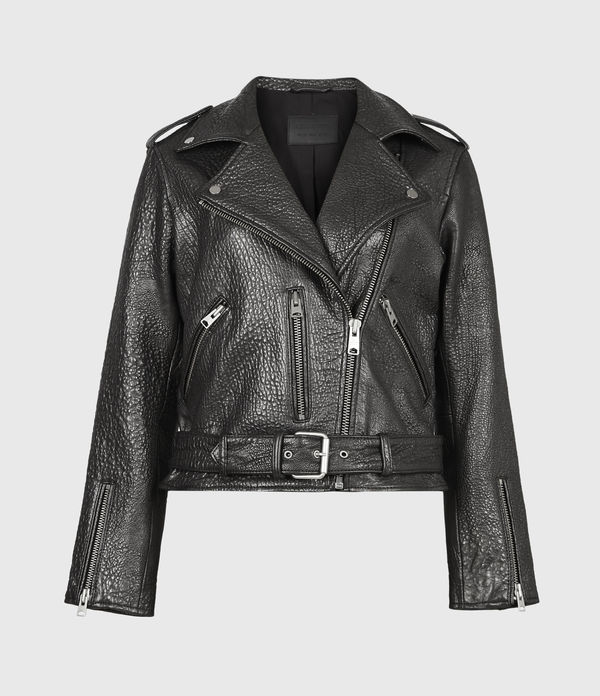 Balfern Bubble Leather Biker Jacket