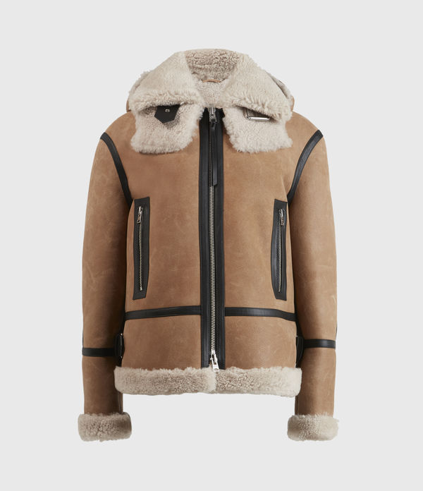 Lillie Hooded Shearling Jacket