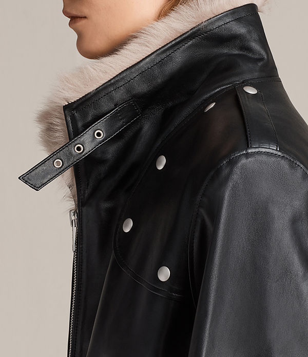 Velo Leather Biker Coat