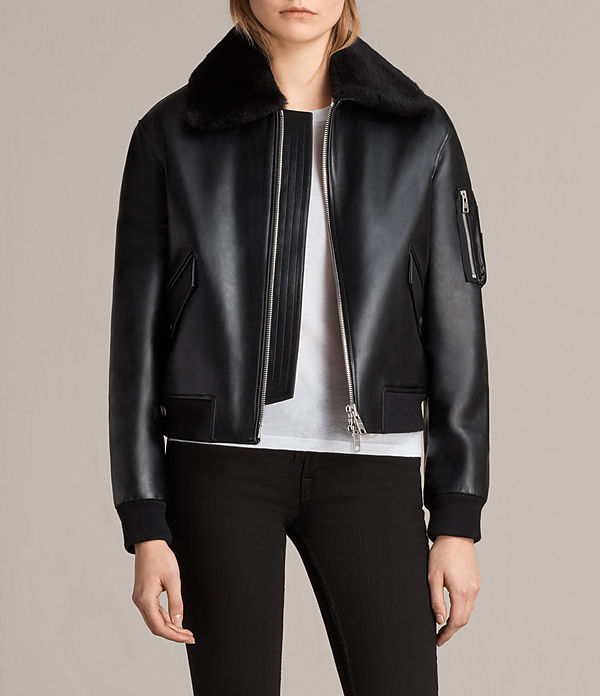 Kinney Leather Bomber Jacket