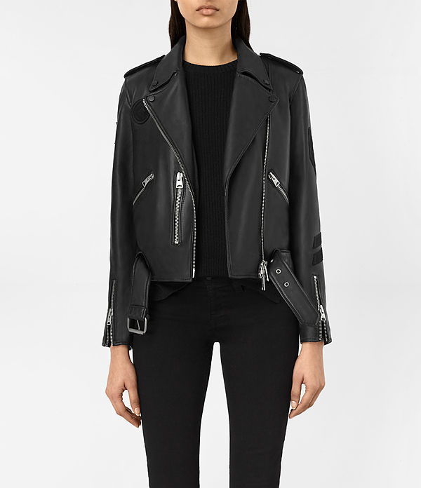 Badge Balfern Leather Biker Jacket