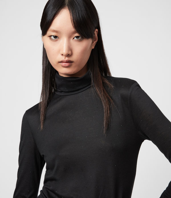 Esme Gem Roll Neck Top