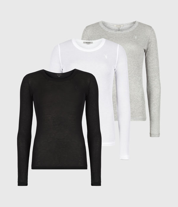 Francesco Long Sleeve 3 Pack T-Shirts