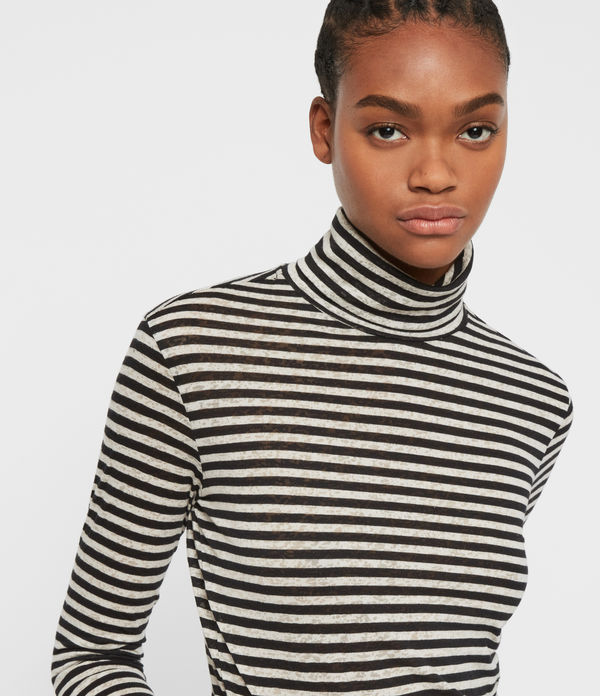 Lake Stripe Rollneck Top