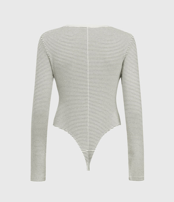Alicia Long Sleeve Stripe Bodysuit