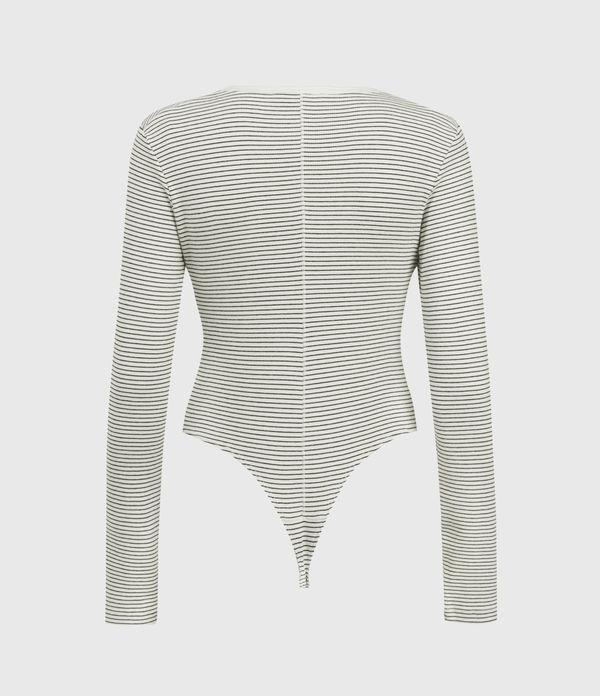 Alicia Long Sleeve Stripe Bodysuit