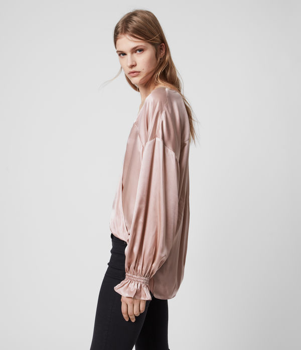 Penny Silk Blend Satin Top