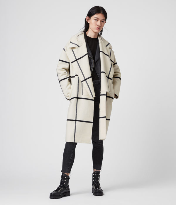 ryder check coat