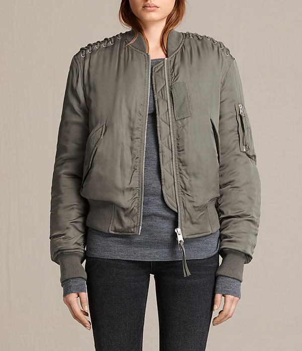 Bree Laced Bomber Jacket