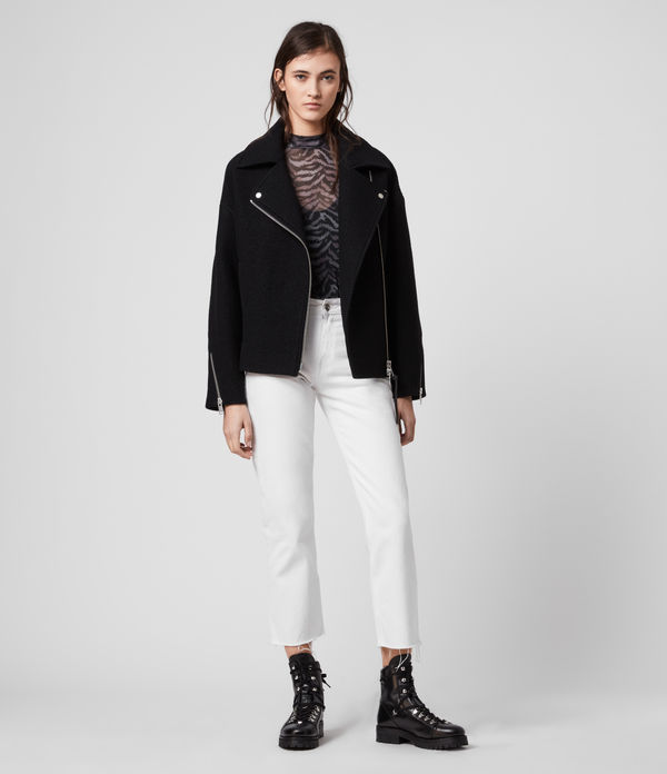 Paxton Wool Biker Jacket