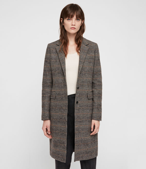 Indra Check Coat