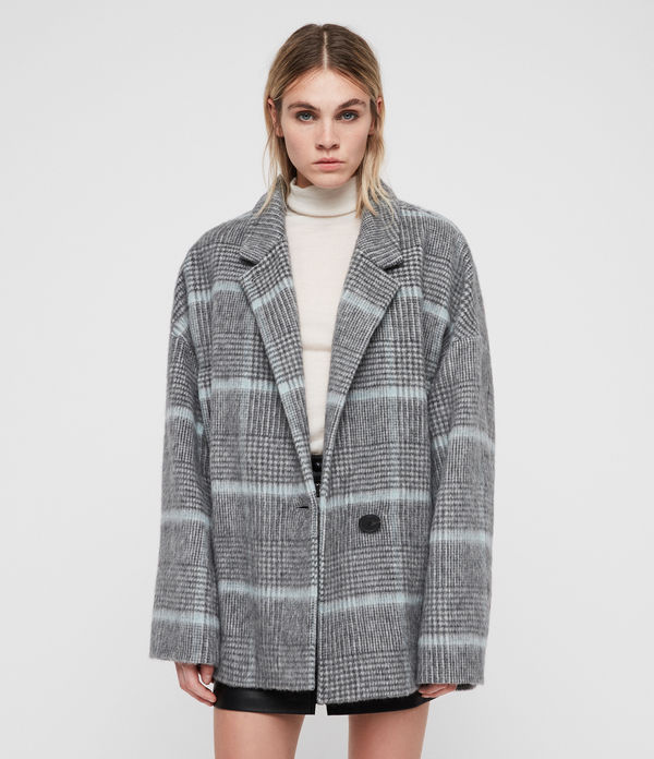 simi check coat