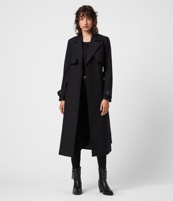 Sage Cotton Trench Coat