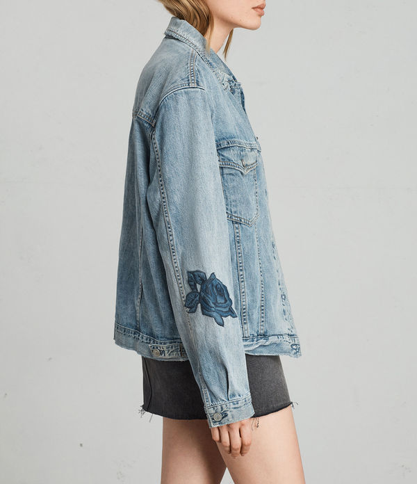 Rose Oversize Denim Jacket