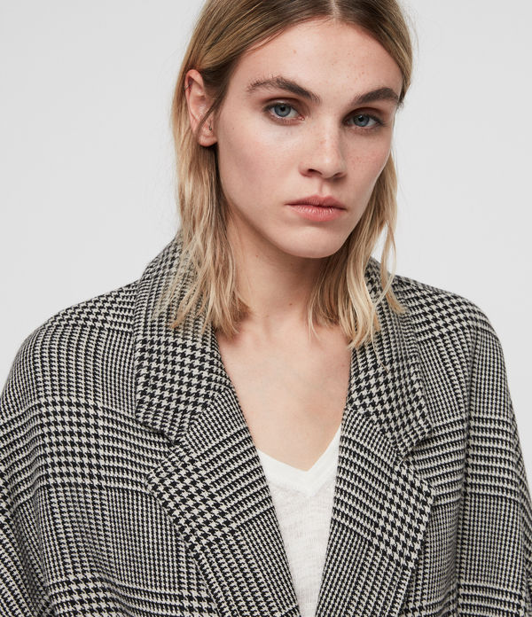 Lara Check Coat