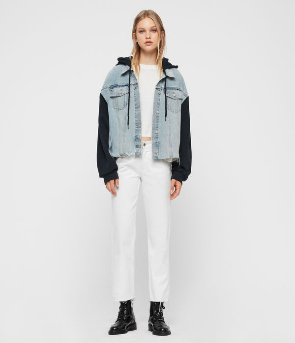 Milena Hooded Denim Jacket