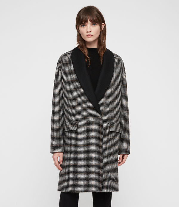 paige check coat
