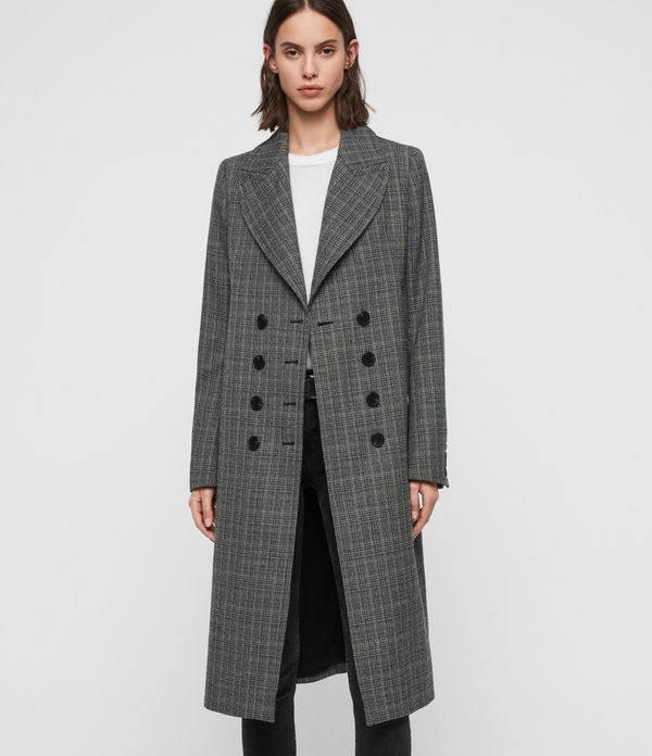 blair check coat