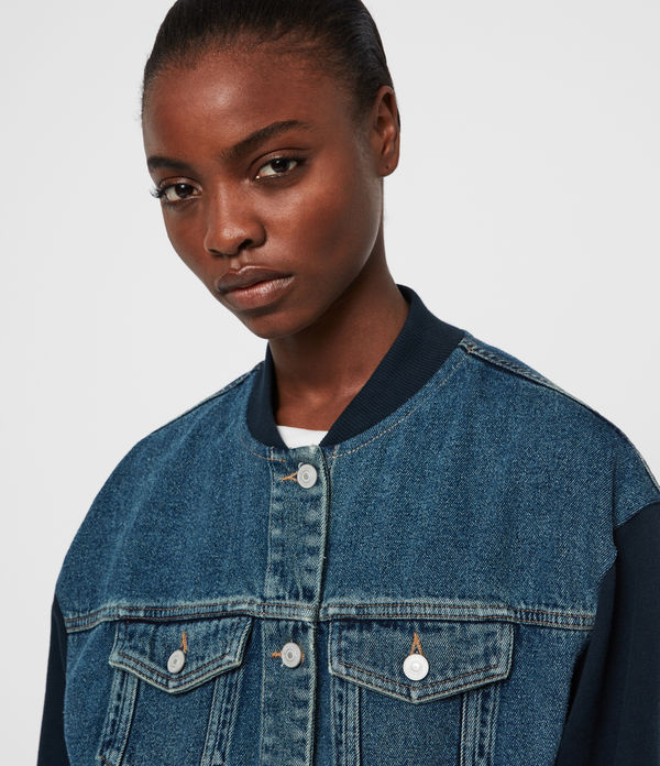 Tank Denim Bomber Jacket