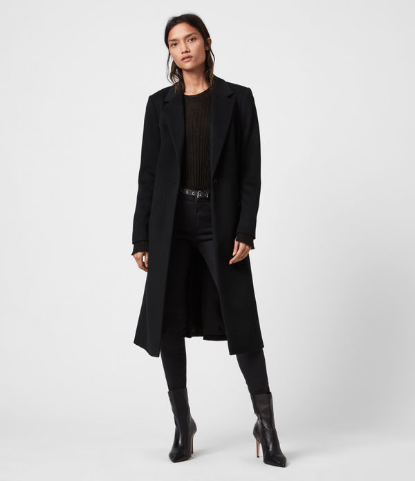 Wade Wool-Silk Blend Coat