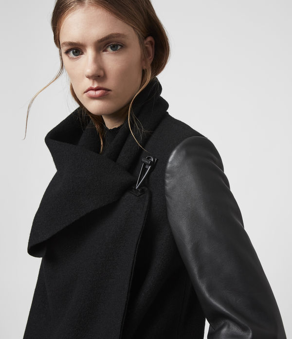 Monument Lea Wool And Leather Coat