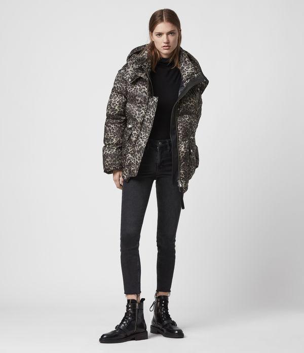 Kala Leopard Puffer Coat