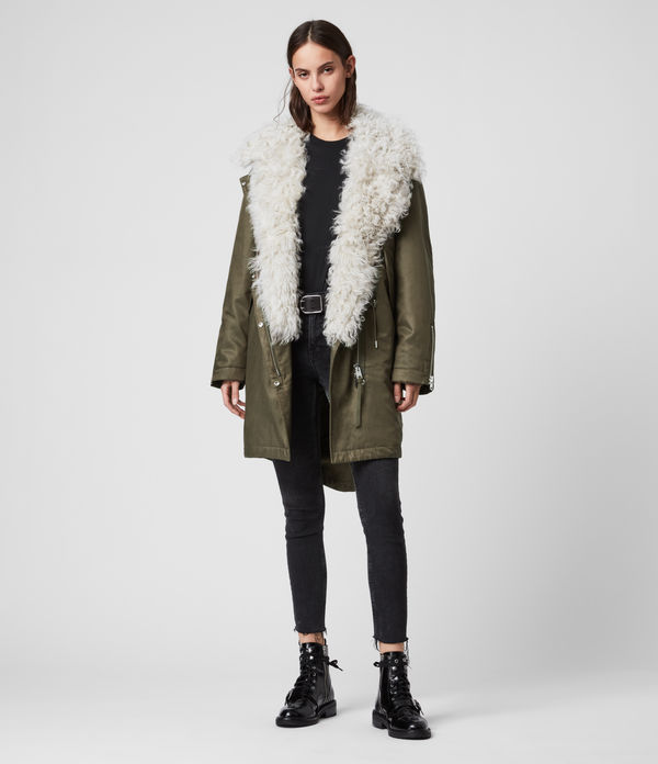 Skyla 3-in-1 Shearling Collar Parka