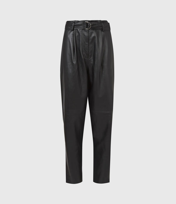 Lana Leather High-Rise Pants