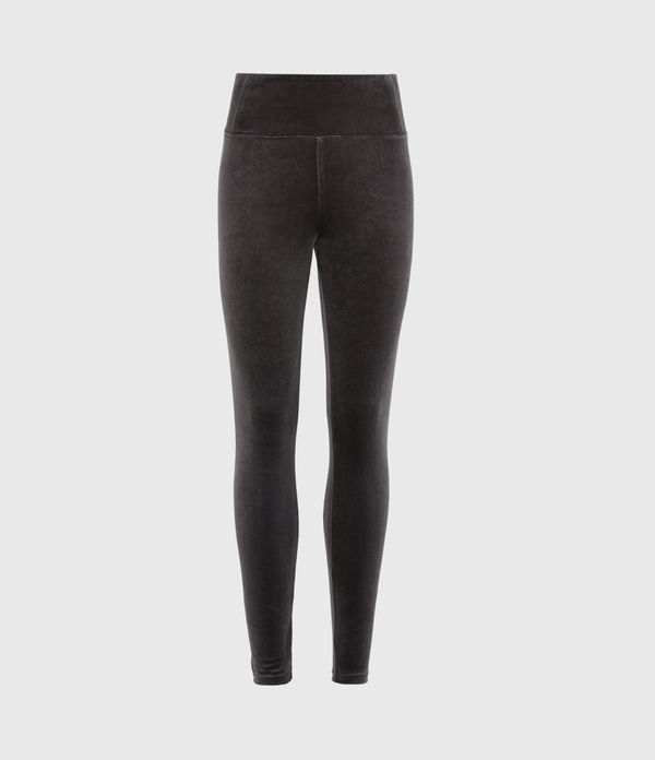 Cora Velvet High-Rise Leggings