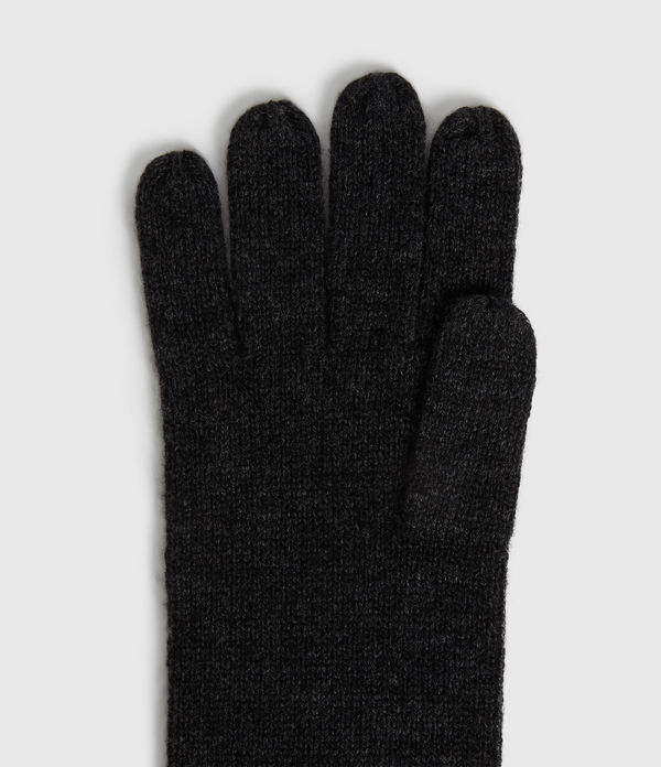 Self Rolled Edge Cashmere Blend Gloves
