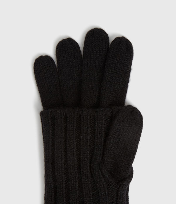 Solid Rib Wool Gloves