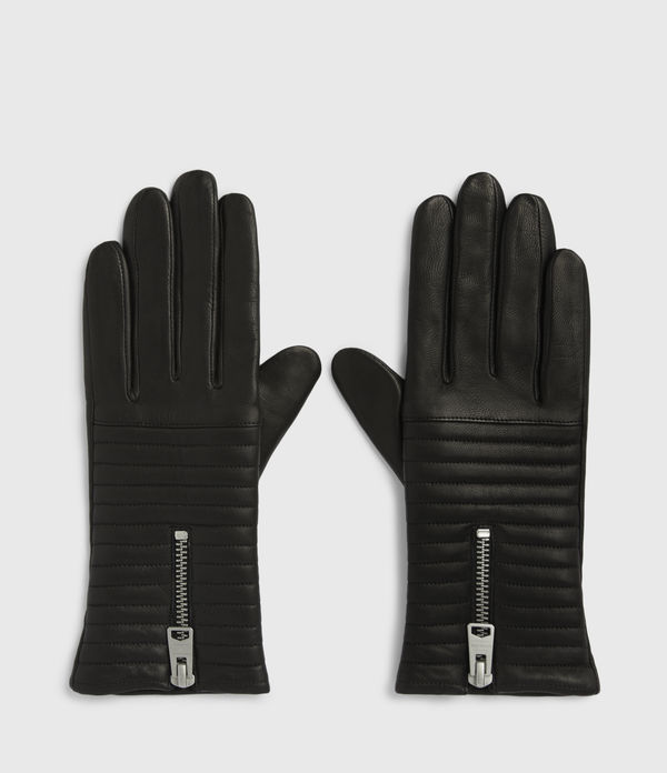 estela leather quilted gloves