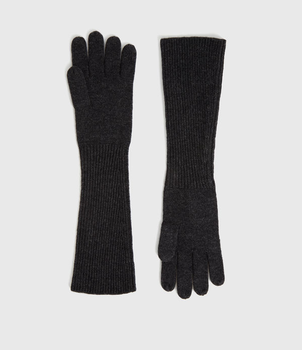 Full Needle Cuff Cashmere Blend Gloves