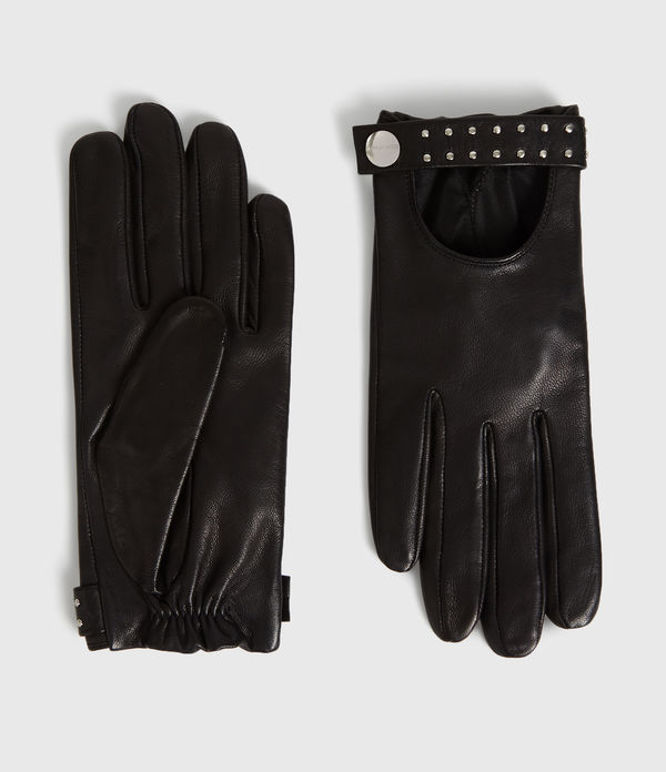 stud driver leather gloves