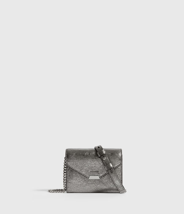 Miki Lea Chain Leather Cardholder