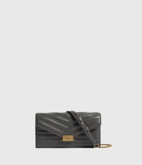 Justine Chain Leather Wallet