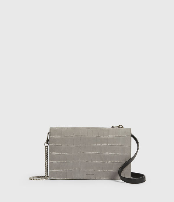 Claremount Leather Chain Crossbody Bag