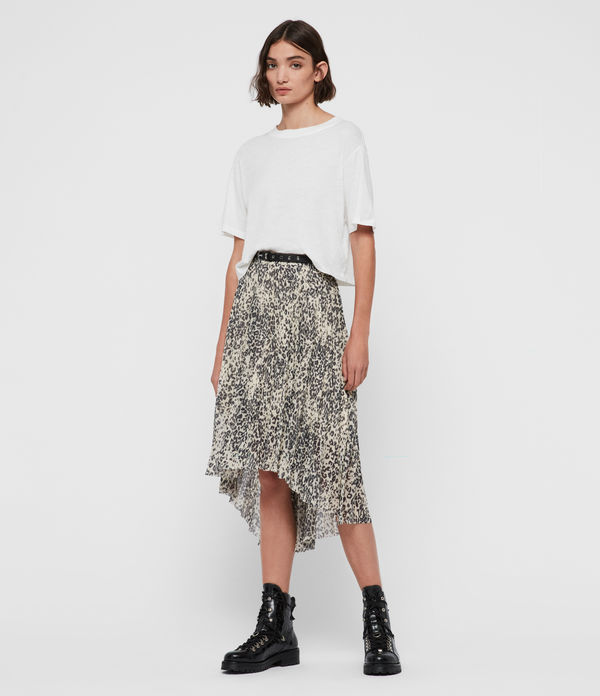 Lea Patch Long Skirt