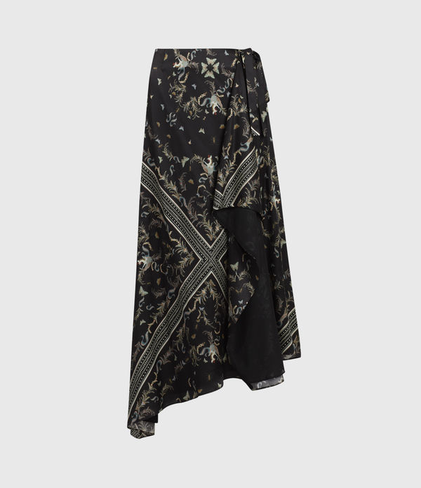 Maia Assam Silk Blend Skirt
