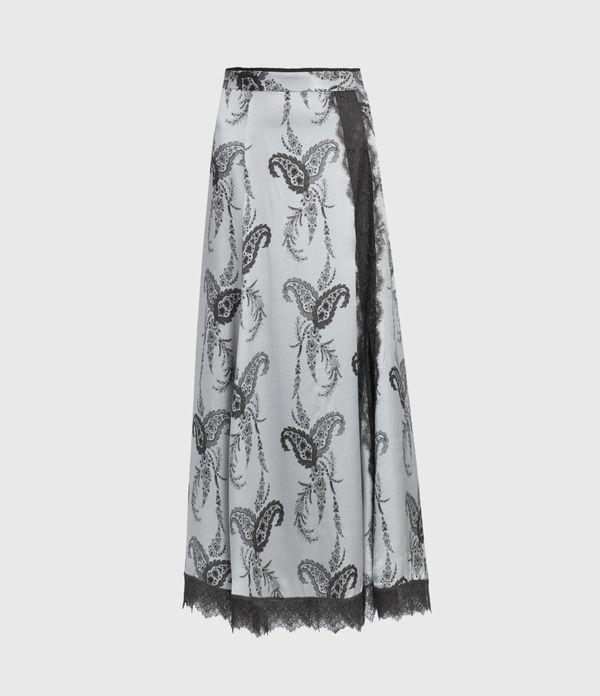 Nysa Kashmir Silk Blend Skirt