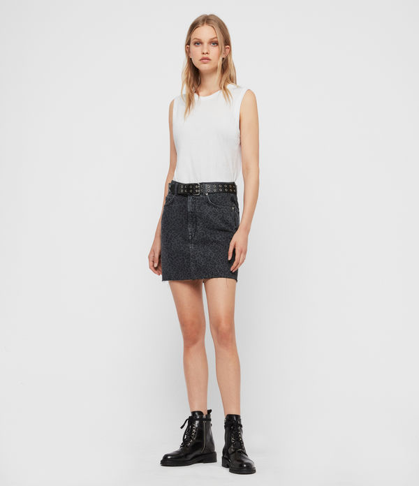 Lila Leo Denim Skirt