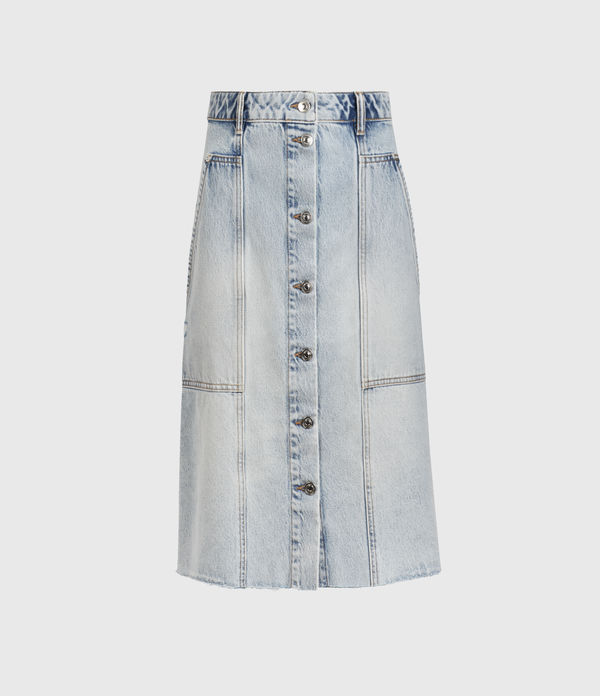 bonnie denim midi skirt