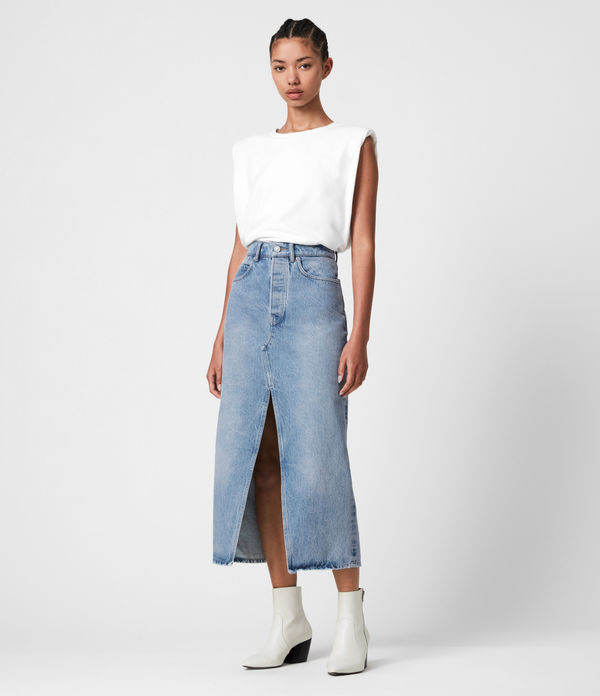 dottie denim maxi skirt