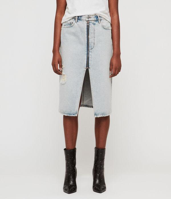 Mabel Long Denim Skirt