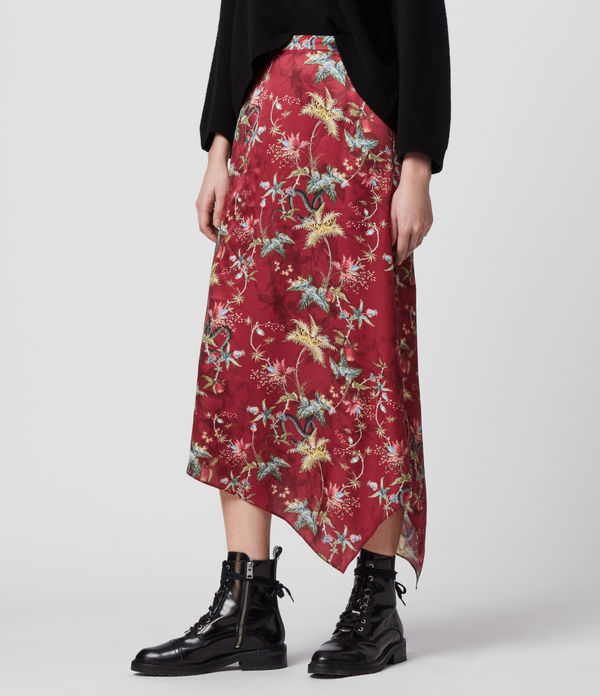 Rhea Silk Blend Evolution Skirt