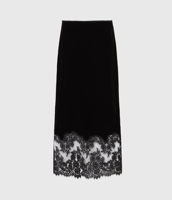 Bridgette Silk Blend Velvet Skirt