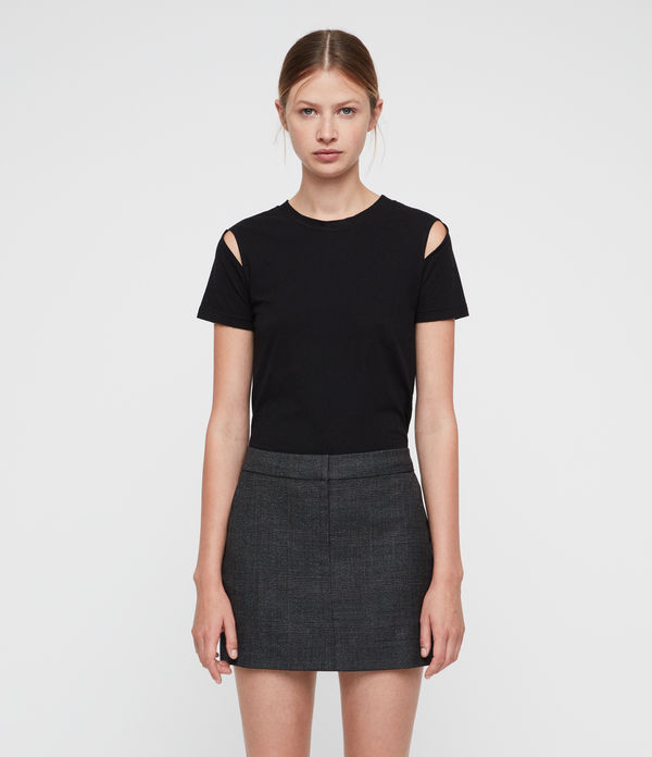harriet check skirt