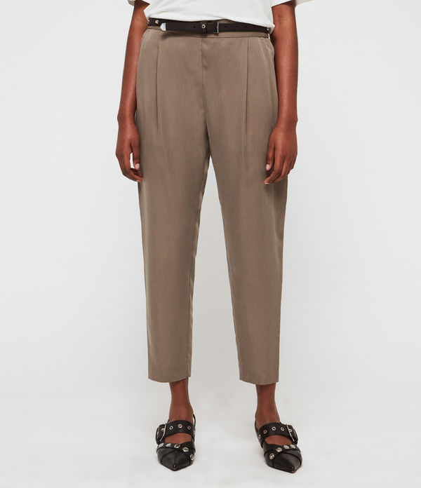 Alva Tapered High-Rise Trousers