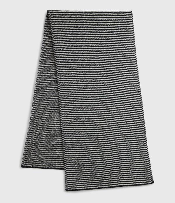 Striped Wool Blend Scarf